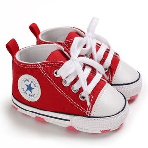 Baby Toddler Red Lace-up Hightop Prewalker Shoes